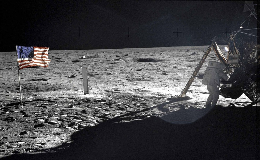 "This NASA file image shows US astronaut Neil Armstrong, the Apollo 11 Mission Commander, standing next to the Lunar Module ""Eagle"" on the moon on July 20, 1969. Armstrong, the first man to set foot on the moon, died at the age of 82, his family said on August 25."