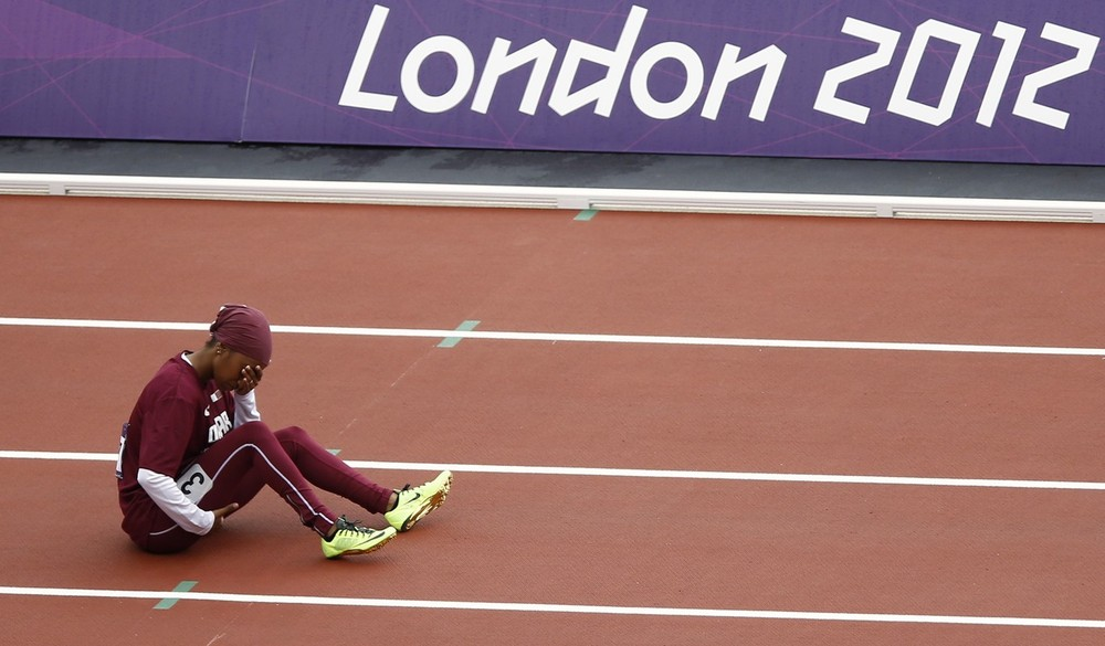 Day seven: It was tears for Qatar(***)s Noor Hussain Al-Malki as she pulls up in the 100m heats. It is the first Games Qatar have sent female athletes to compete, Al Malki is one of four