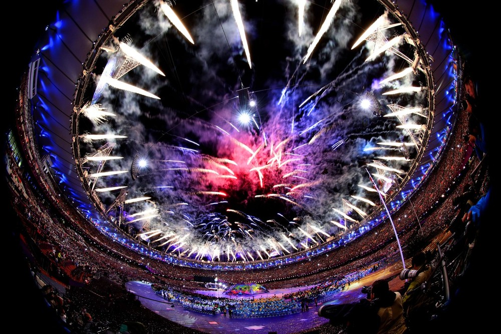 Fireworks lit up the stadium during the opening ceremony of the Paralympic Games in London on August 29. Athletes will compete in 21 different sports, including wheelchair basketball, powerlifting, and equestrian.