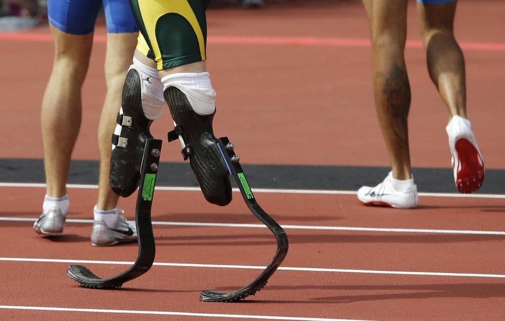 These are the artificial legs of the man who on Saturday 4th August 2012 became the first amputee to compete at the Olympic Games
