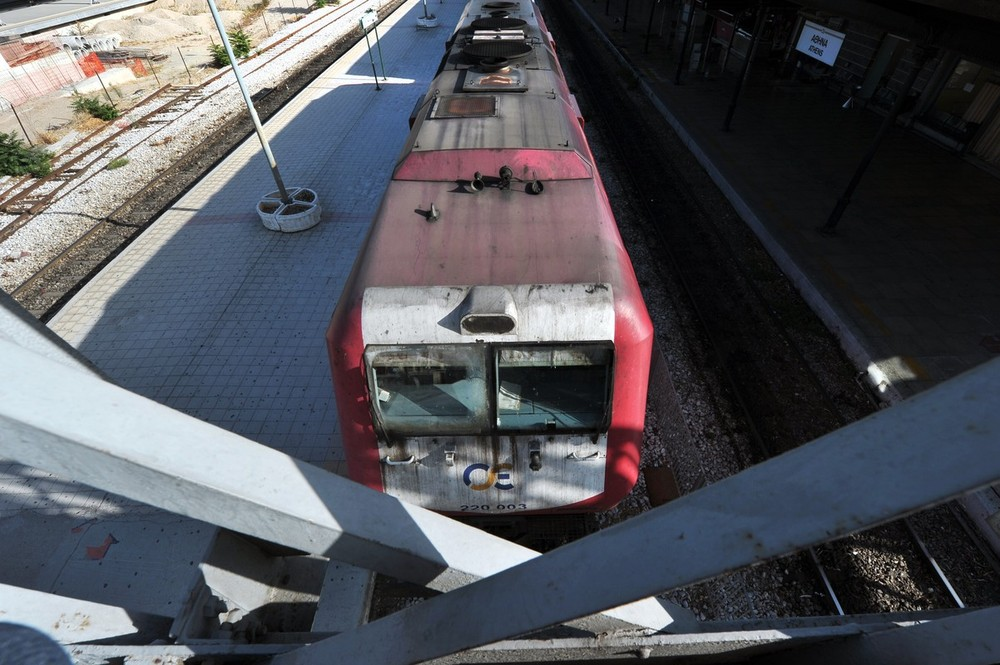 A day-long general strike was called in Greece on September 26 as protests erupted against a new round of sweeping austerity cuts to be brought in next month to unlock bailout loans. Above, a view of the abandoned main Athens train station.