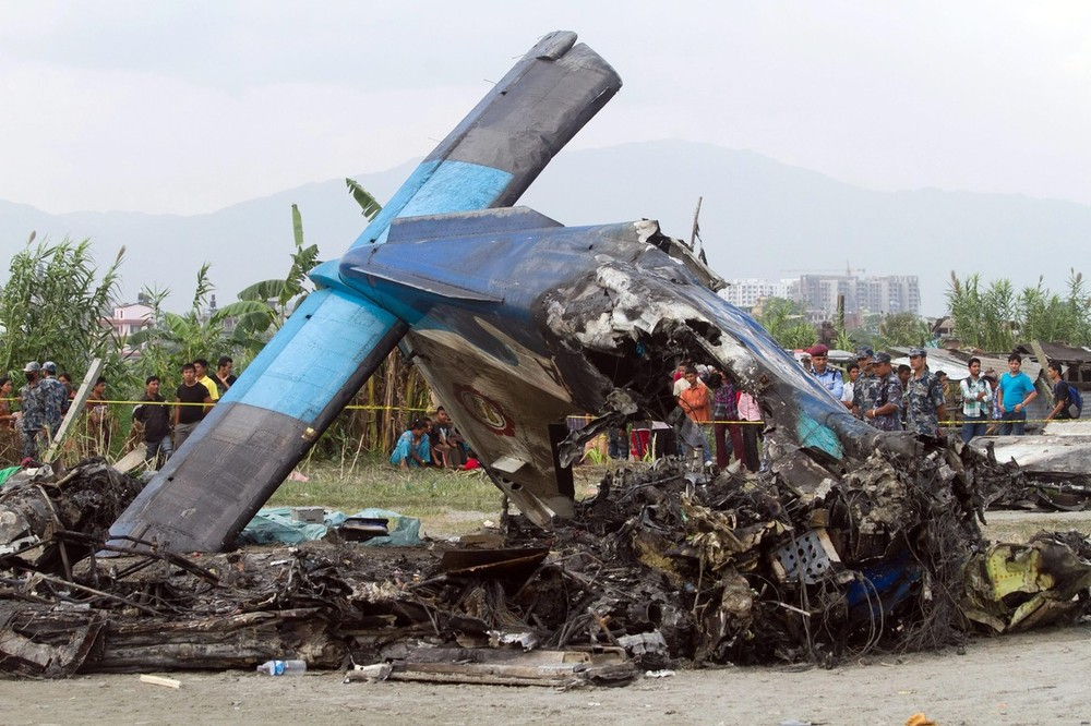 A small plane crashed on the outskirts of Kathmandu, Nepal. The 19 people onboard,  including seven British and five Chinese nationals, died when the plane went down immediately after having taken off in the direction of Mount Everest.
