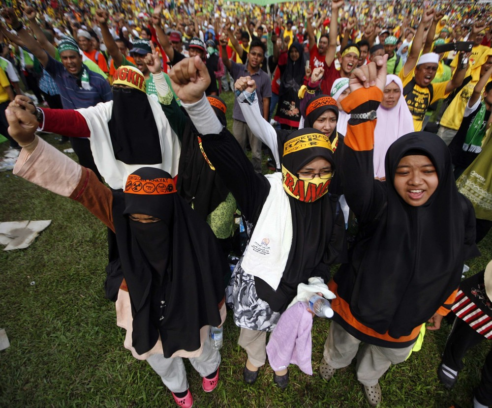 Malaysian opposition parties rallied in  Kuala Lumpur, the capital, on January 12. Malaysia(***)s Prime Minister Najib Razak must call an election within three months.