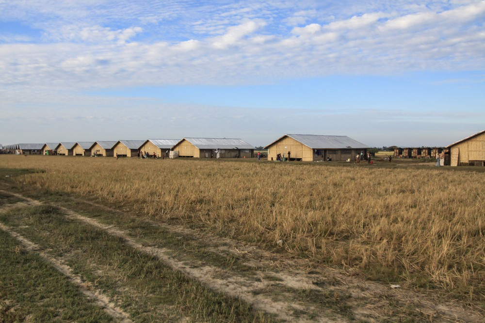 New government-built shelters at the Ohn Dawgyi Refugee camp near Sittwe in Myanmar(***)s Rakhine State.