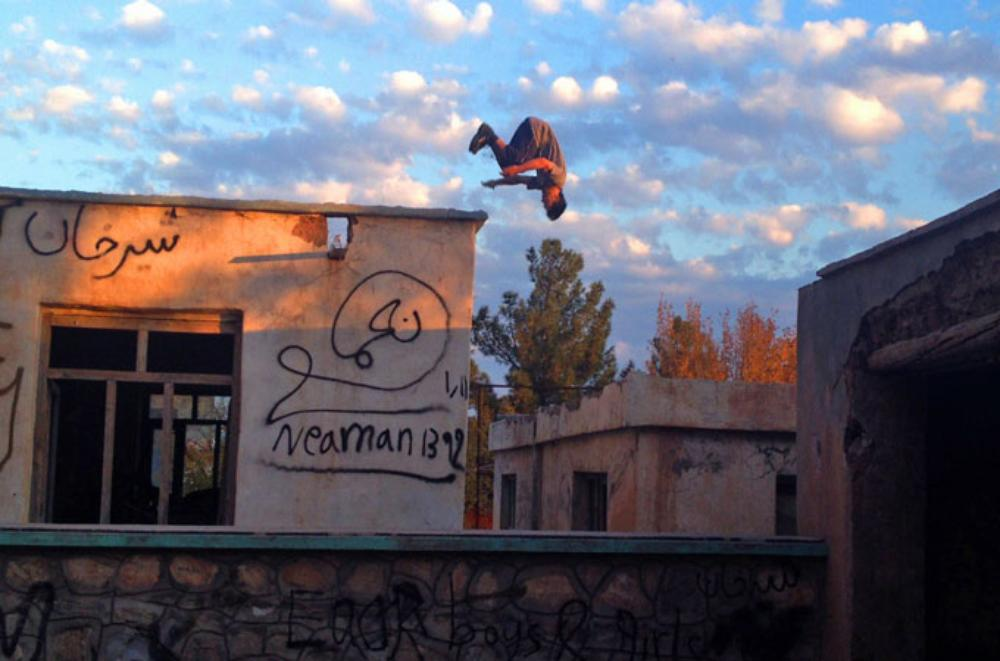 Parkour is a training discipline using movement developed from obstacles.  Photo: Ali Latifi