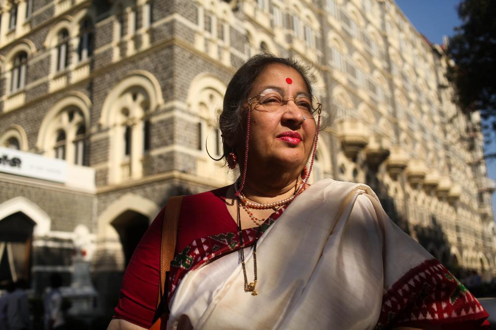 "Madhavi Karandikar, 62.  Was at the Taj Hotel and hid under a table to escape. ""I still don't understand after all these years how the mind of a terrorist works, because it is so different from the mind of a criminal."""
