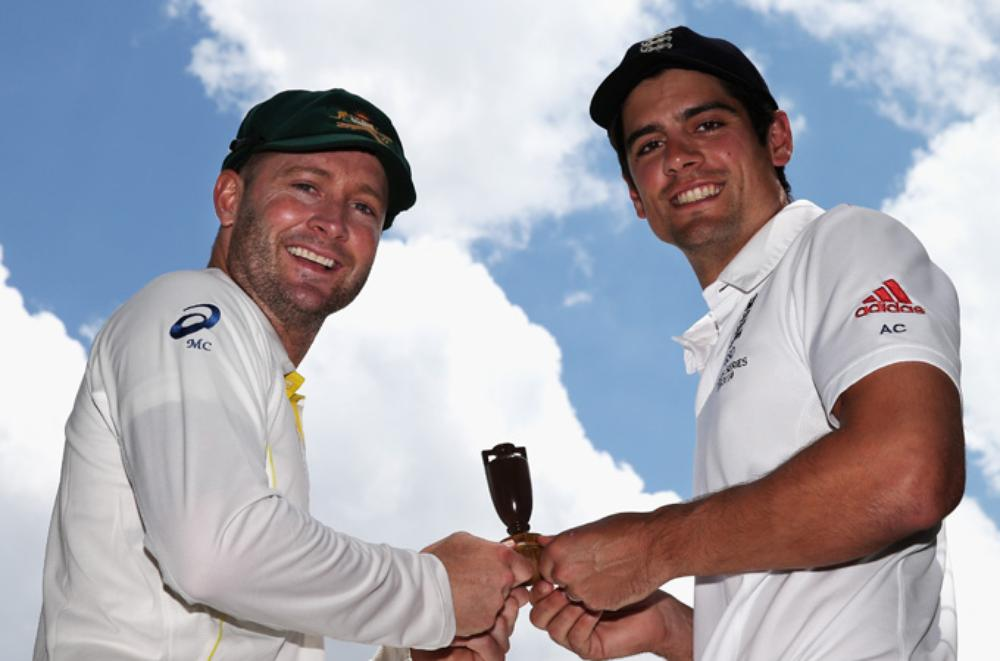 Captains Alastair Cook and Michael Clarke both reached the 100-Test landmark when the rivals met in Perth for the third Ashes Test