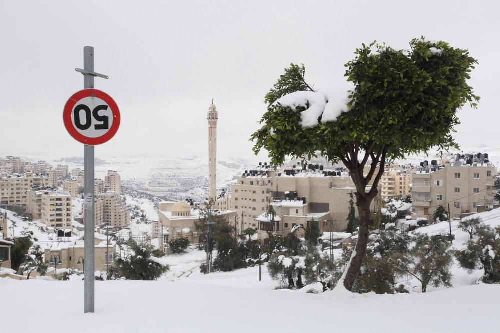 <p>The al-Tireh neighbourhood was one of the areas that was hardest hit by the freak snowfalls in Ramallah.</p>