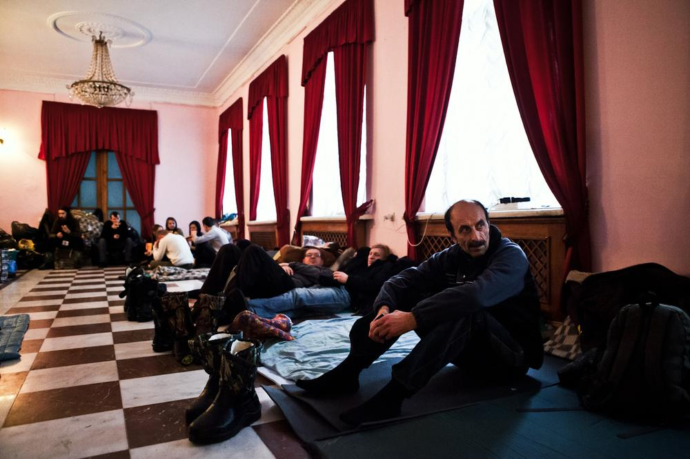 <p>The protesters in the occupied International Centre of Culture and Arts have the task of blocking government buildings and interfering with the activity of the ministers and members of parliament.</p>