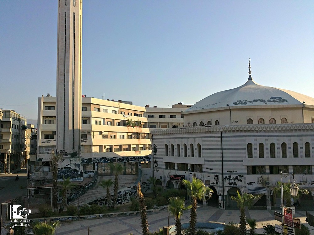 The Grand Mosque in Douma is one of the largest mosques in the suburbs of Damascus. It was first built in 1136 but later demolished and rebuilt in 1983.