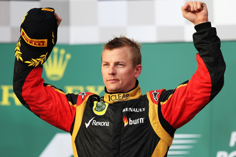 Kimi Raikkonen claimed victory in Formula One's