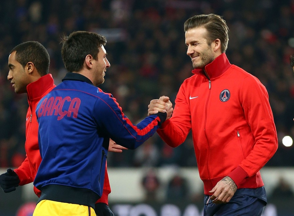 Two of the most famous faces in football met in the Champions League quarter-final between PSG and Barcelona. Beckham started for PSG and put in a strong performance, Messi did what he does best - scoring his 57th goal of the season at the Parc des Princes stadium.