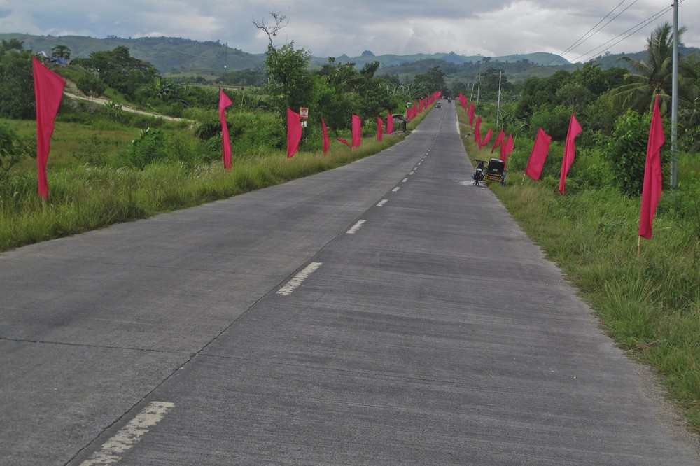 <p>Election frenzy is high in Mindanao as the Philippines gear up for mid-term polls scheduled for May 13. The streets are lined with campaign flags representing the symbols of different candidates.</p>