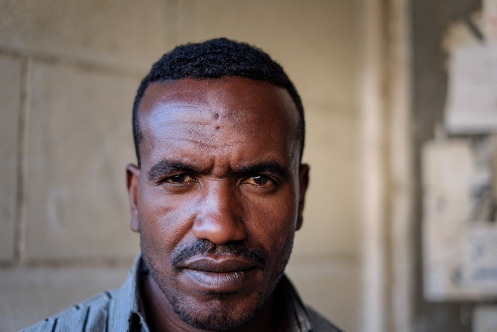 <p>Gutama Gallatobati fled persecution in Ethiopia because of his alleged ties to the Oromo Liberation Front (OLF), but now finds himself homeless in Egypt because of his Ethiopian heritage.</p>