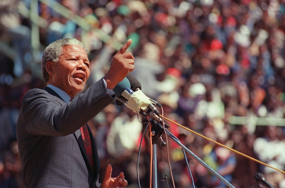 Image result for nelson mandela president election