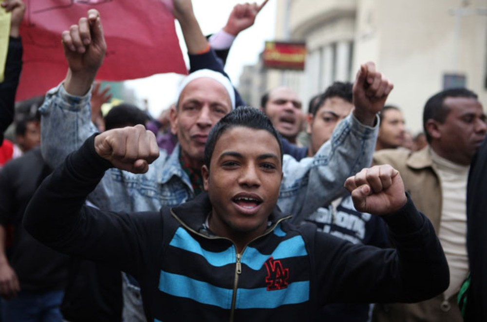 <p>On January 28, 2011, protesters in Imbaba - many of them children - marched through the streets, calling on their neighbours to rally against then president Hosni Mubarak.</p>