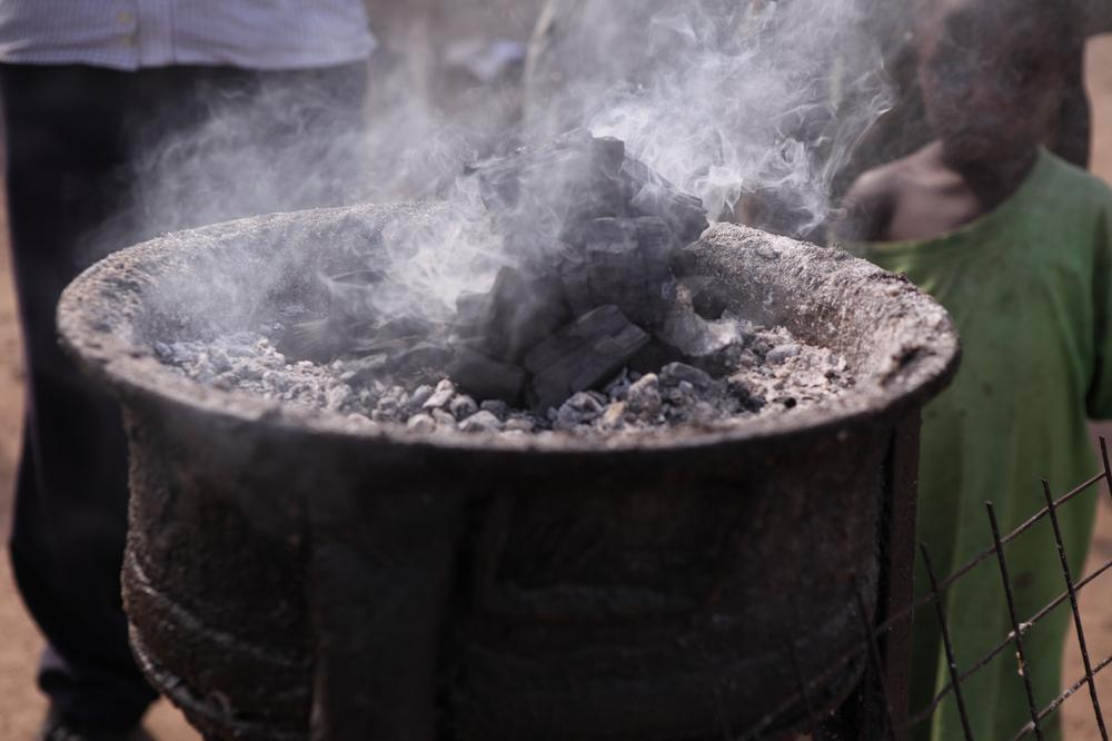 <p>In Uganda, more than 90 percent of the population still cook on open fires using charcoal or wood.</p>