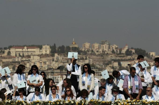 Nazareth and its surrounding areas are home to thousands of Palestinian Christians with Israeli citizenship, From ImagesAttr