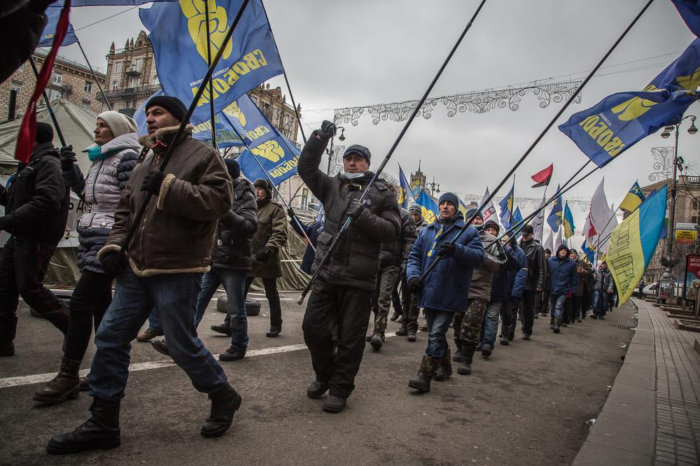 <p class=&quot;MsoNormal&quot;><span style=&quot;font-size: 10pt; line-height: 115%; font-family: Arial, sans-serif; background-position: initial initial; background-repeat: initial initial;&quot;>As many as 100,000 Ukrainians took to the streets of the capital Kiev on Sunday, defying new laws aimed at stamping out anti-government protests.</span></p>
