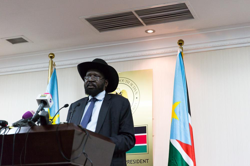 <p>President Salva Kiir announced the recapture of the city of Malakal at a press conference in Juba on Monday.</p>