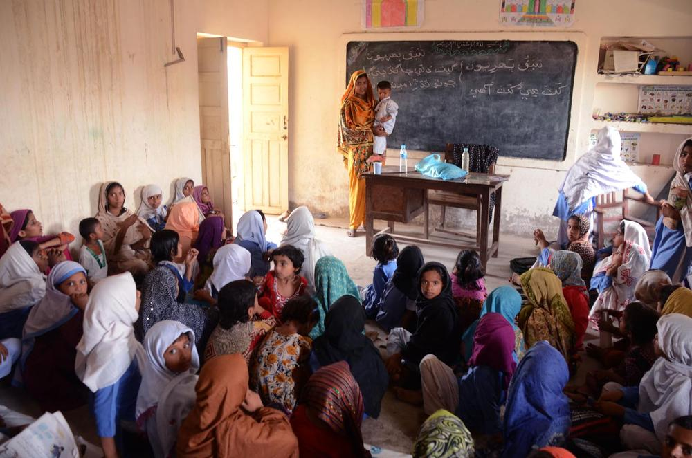 <p>Sanober is the only teacher in her school. Sanober explains: &quot;There are 110 girls studying in this school; we kept on adding one class per year. It started off as a one-teacher, one-grade school only. Now we have classes up to grade five. Admissions are continuing but I can(***)t manage any more students over 110 or 120.&quot;</p>
