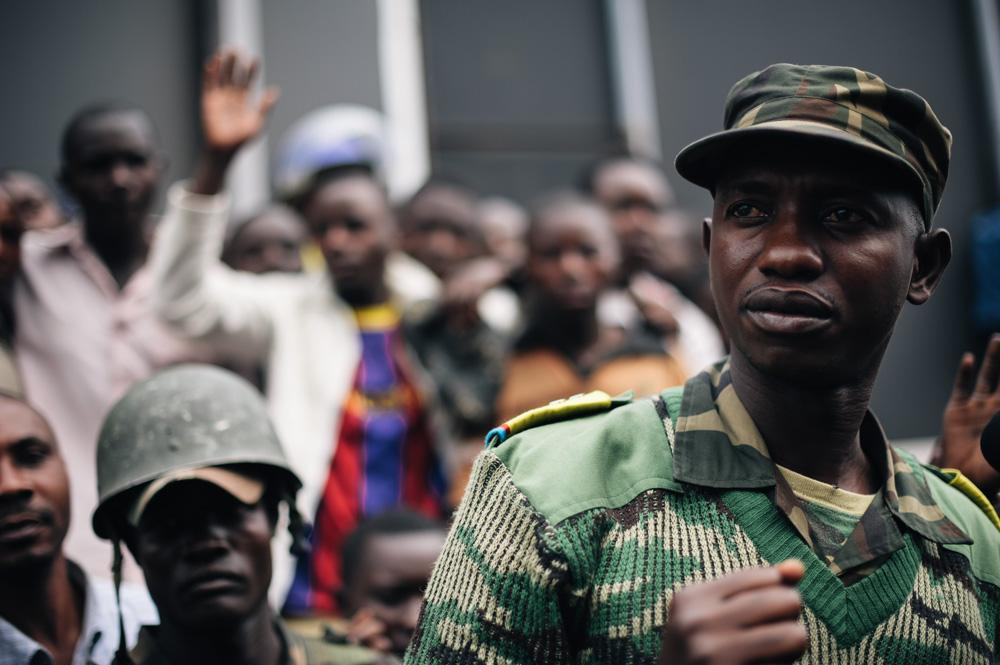 Colonel Mamadou Ndala of the Congolese armed forces was widely hailed as a hero in the east of the country - where citizens have traditionally been wary of the national army.