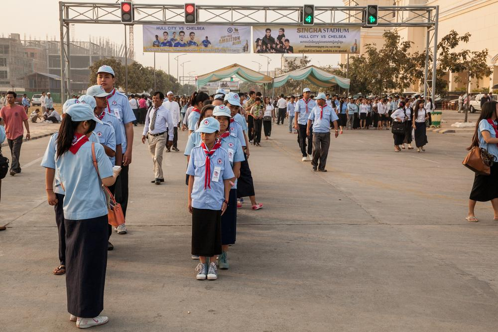 <p>Cambodians celebrate the day the Khmer Rouge was overthrown.</p>