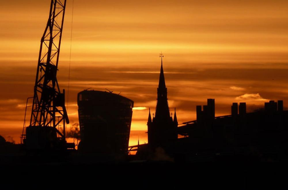 \(***)Red sky at morning, shepherd\(***)s warning\(***) goes the old saying. A red glow over central London heralds a change in the weather across the UK, with the most extreme conditions likely across northwestern areas. [Getty]