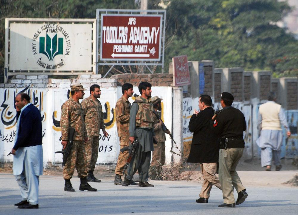 The attack started early on Tuesday morning in Peshawar.