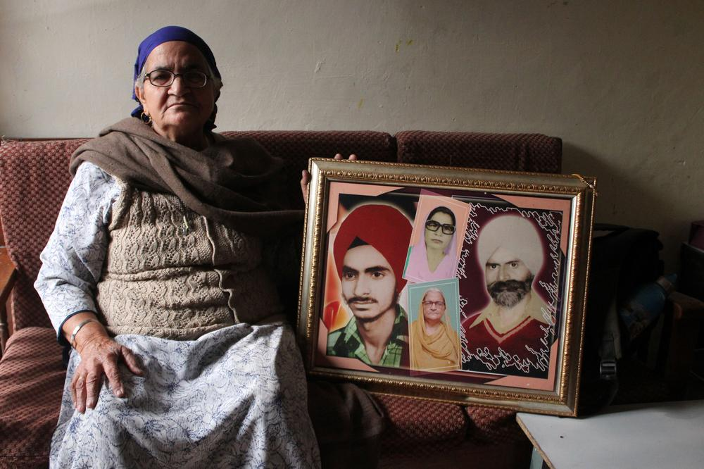 <p>Surinder Kaur, 72, lost her husband Anoop Singh in the riots, apart from son Jaspal, brother Sukhdev and a brother-in law.</p>