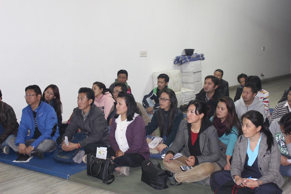 <p>Young Tibetans attend a seminar on online safety and mobile security to guard themselves from Chinese online surveillance.</p>