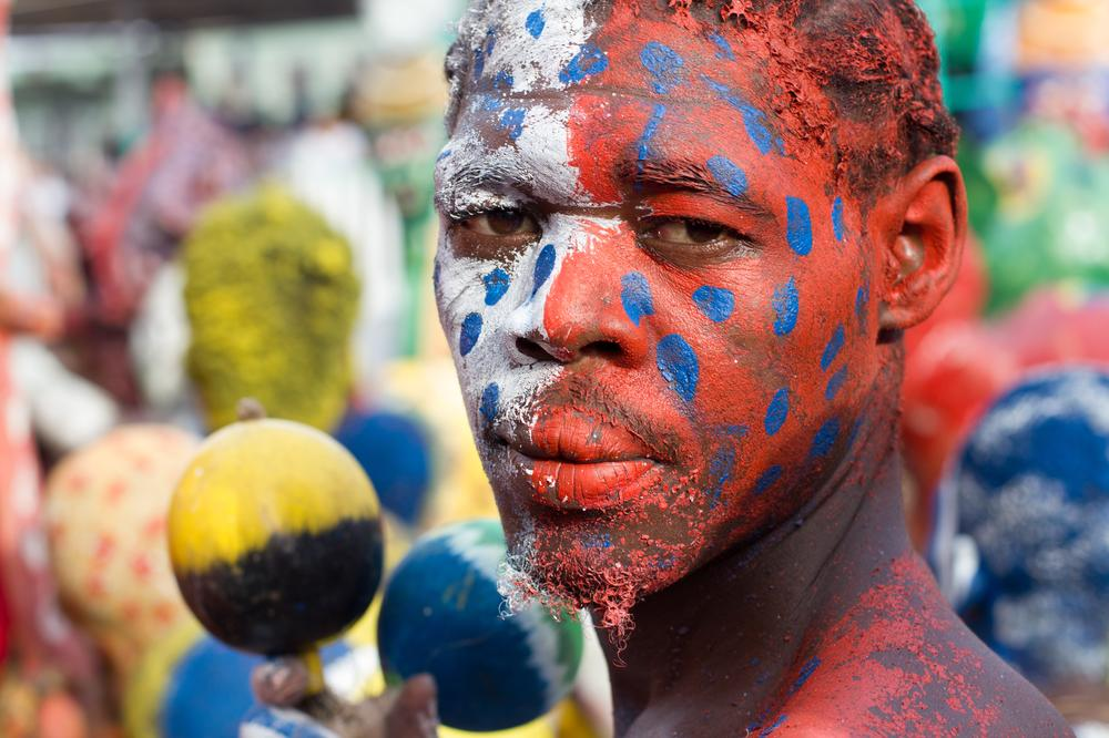 <p>Rara groups perform at the beginning of the Carnival season and continue through Lent until Easter. The musicial genre gives Haitians a chance to celebrate their voodoo beliefs in conjunction with Catholic celebrations.</p>
