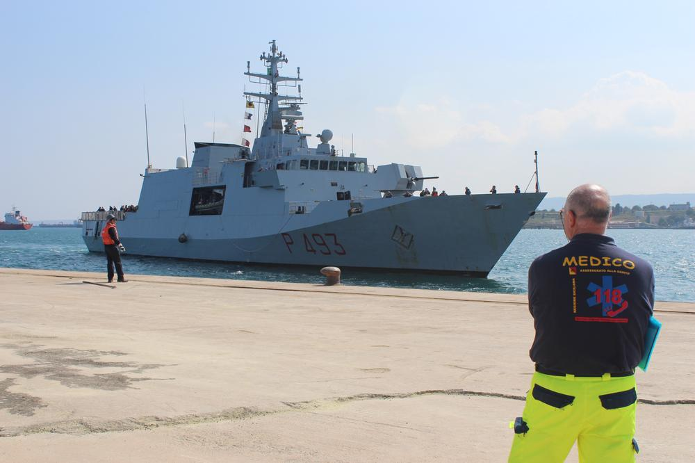 <p>Italian navy vessel Comandante Foscari arrived at Augusta port in Sicily on April 8, after rescuing 226 migrants. The rescue was part of operation Mare Nostrum (Our Sea), in which amphibious ships, unmanned drones and helicopters with infrared equipment cooperated to prevent deaths of migrants at sea. Mare Nostrum was launched in October 2013, following incidents off the Italian island of Lampedusa, in which hundreds of migrants drowned when their boats capsized.</p>
