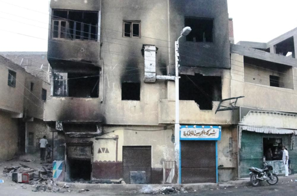 <p>Several homes were set ablaze and severely damaged during the deadly clashes.</p>