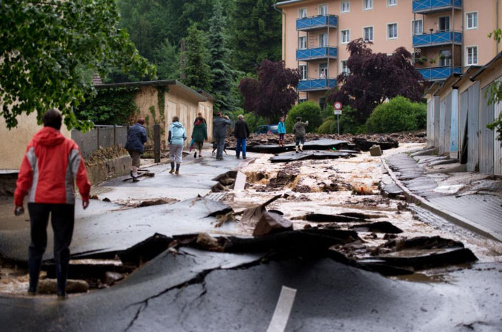 Torrential rain has caused major problems in Europe.