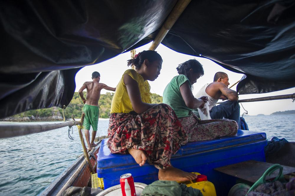 <p>The Moken people, a nomadic ethnic minority also known as &quot;sea gypsies&quot;, live on the waters off Myanmar(***)s Mergui Archipelago. Today, there are around 2,000 members who continue to live the nomadic lifestyle, down from 12,000 a decade ago.</p>