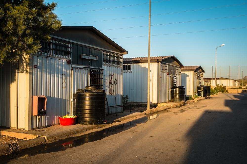 <p>There are approximately a dozen mobile shelters housing up to 300 prisoners at the Abu Sharda detention center for illegal migrants.</p>