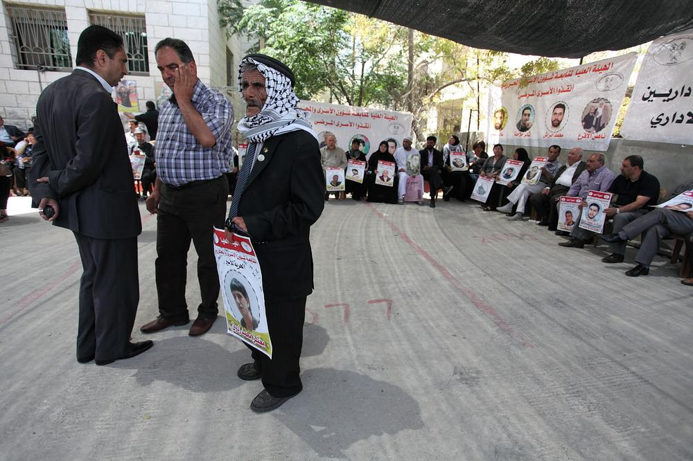 Families of prisoners stage regular sit-ins outside the offices of the International Committee of the Red Cross (ICRC) across Palestine.