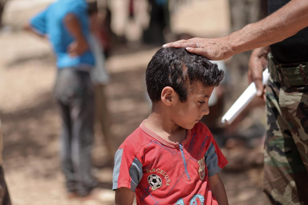 Mohammed, 9 years old, fled Kafr Zaita along with his family after an alleged chemical attack by the Syrian forces that targeted their village.