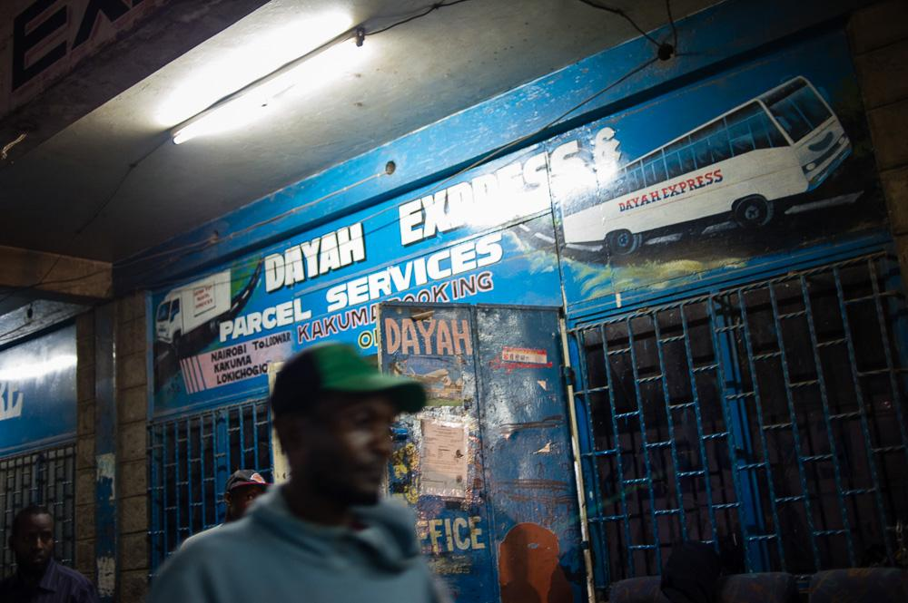 "The ""Dayah Express"" bus leaves Nairobi several times a week before dawn, and takes two days to reach Kakuma."