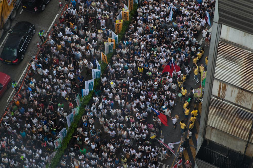 Police say around 90,000 people took part in the rally, while organisers say the turnout was over 500,000.