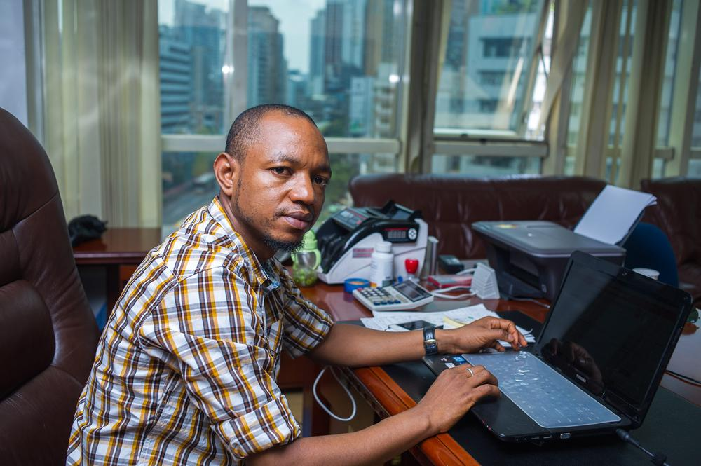 Abubakarr Barrie, 32, is an assistant manager of an international freight company, in the Tianxiu Building, that ships goods to West Africa. Barrie is currently completing an MBA at the university in Guangzhou, which has the largest African community in Asia.
