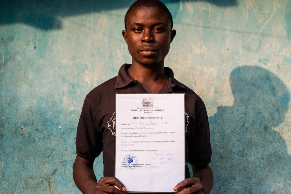 Ebola survivor Ericson Musa Thuray lost 37 members of his family to the disease in August.