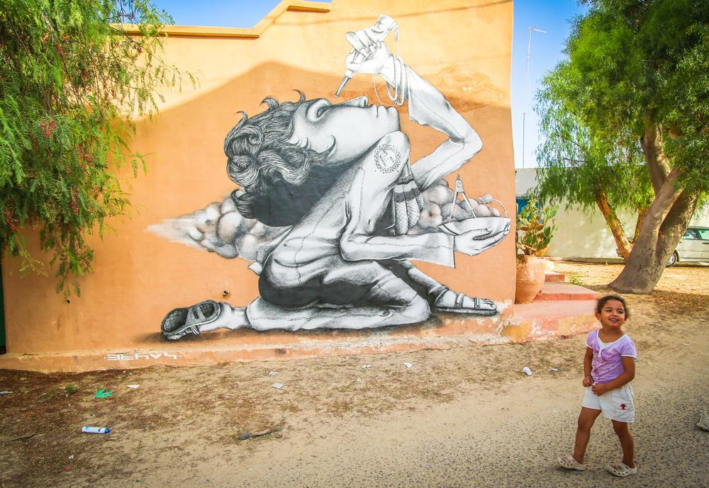 杰尔巴岛上的街头涂鸦 - wuwei1101 - 西花社