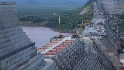 Image result for Ethiopia's Grand Renaissance Dam takes shape
