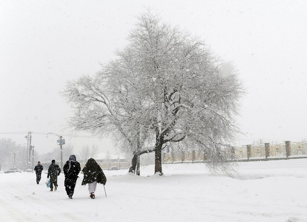 Afghanistan is no stranger to cold weather. The average night time temperature in February is minus 6C.