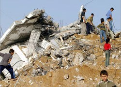 Hundreds of Palestinian homes  were destroyed in Rafah