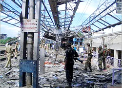 A market place was targeted in the blasts