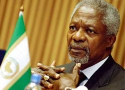 Annan was in Ethiopia recently visiting the AU headquarters