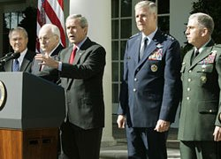 Bush did not offer new initiatives to stem violence in Iraq